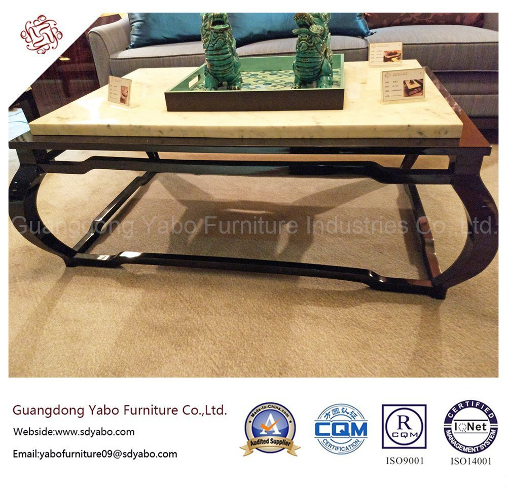 Chinese Style Hotel Furniture with Lobby Marble Coffee Table (YB-D-25-1)