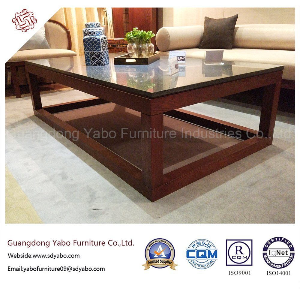 Wooden Hotel Furniture with Lobby Marble Coffee Table (YB-E-8-1)