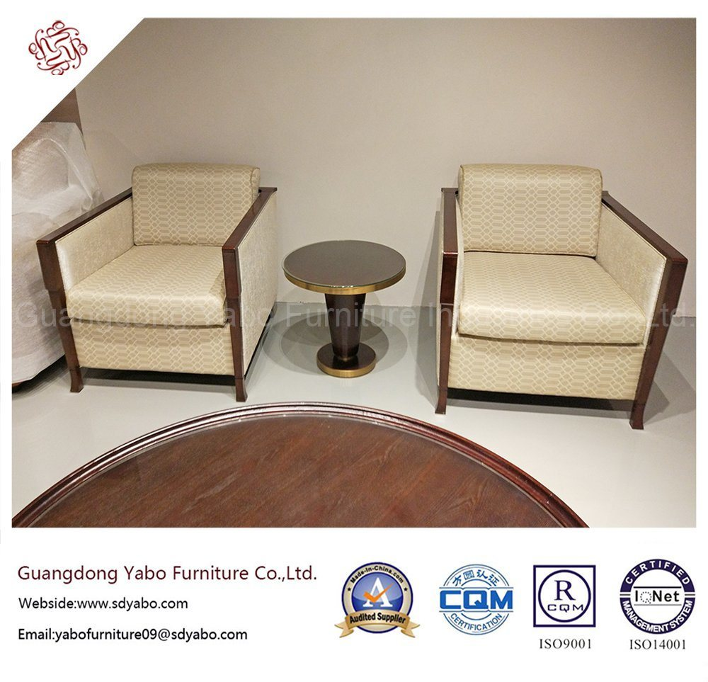 Custom-Made Hotel Furniture with Lobby Wooden Armchair (YB-D-14)