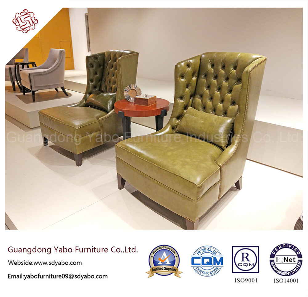Manufacturer Customized Hotel Furniture for Lobby Wing Chair (6961S)