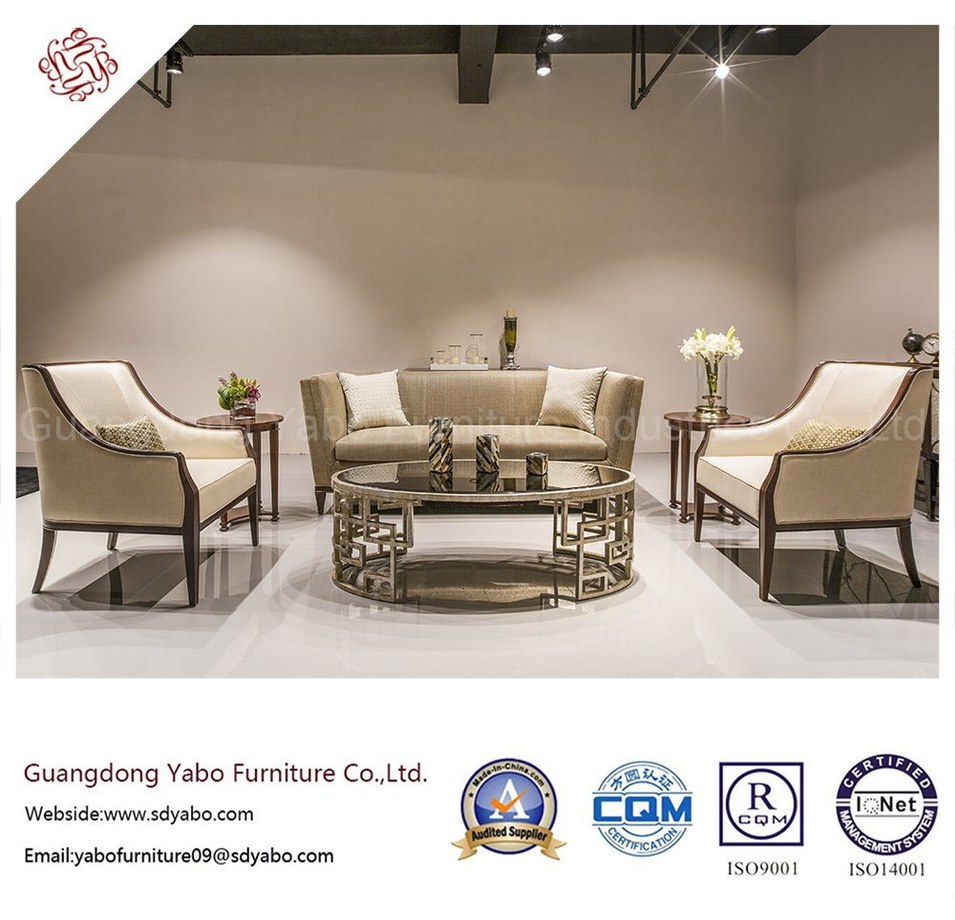 Solid Wood Hotel Furniture with Lobby Custom Sofa Set (HL-X-4)
