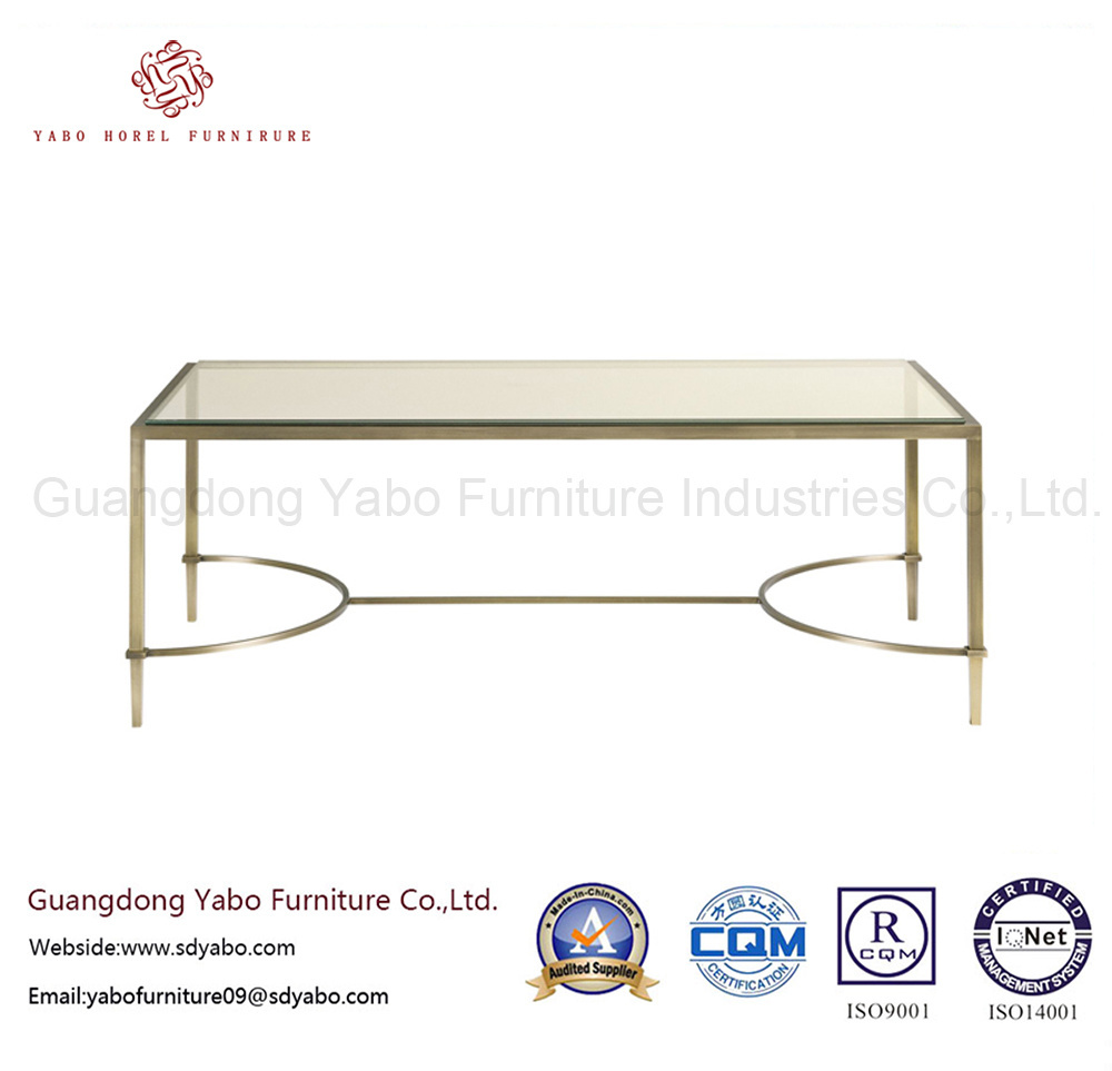 Hotel Furniture with Simple Tempering Glass Coffee Table (7898)