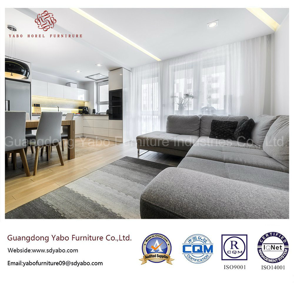 Modern Hotel Furniture with Lobby Grey Corner Sofa (YB-C-7)