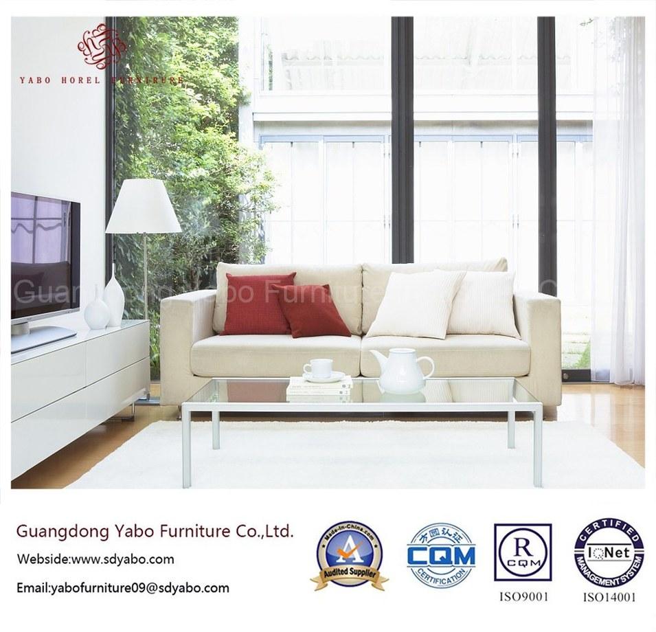Modern Hotel Furniture with Wooden Three Seats Sofa (YB-0008)
