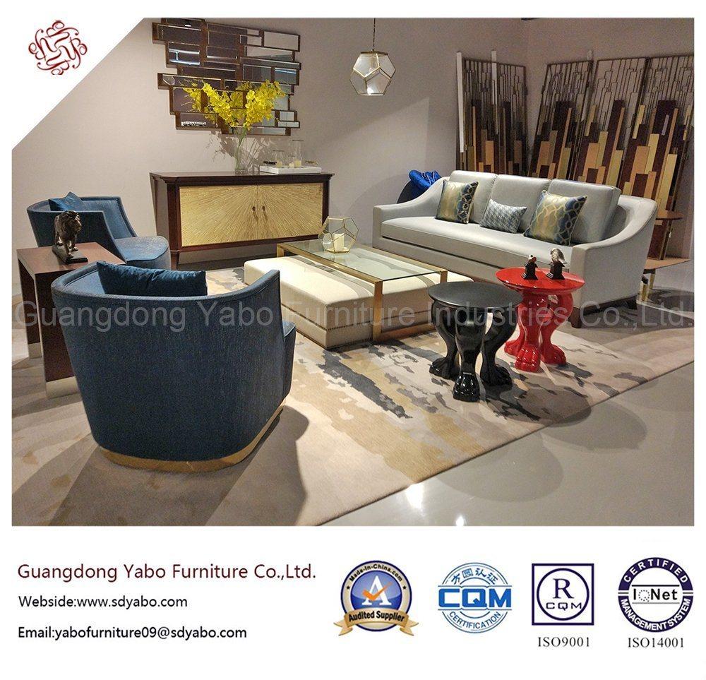 Modern Hotel Furniture for Lobby Fabric Sofa Set (YB-S-876)