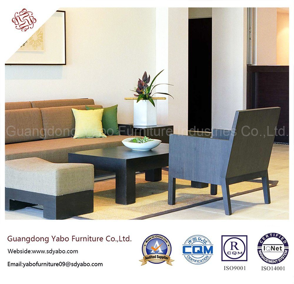 Splendid Hotel Furniture with Wooden Combination Sofa Set (YB-H-29)