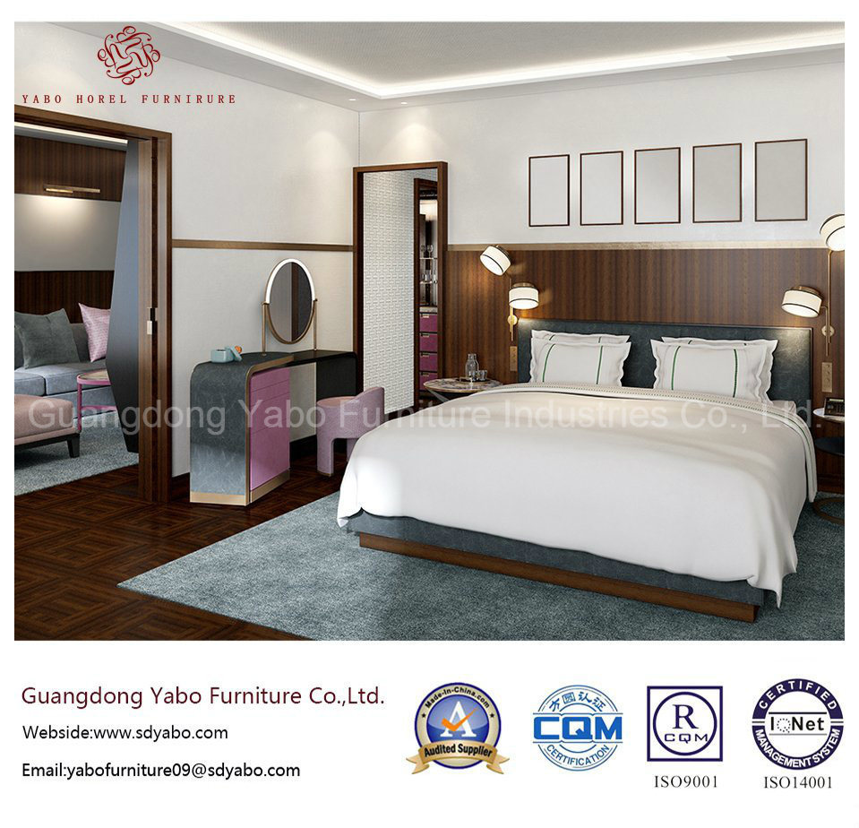 Simplify Hotel Furniture with Suite Bedroom Set for Sale (F-C-1)