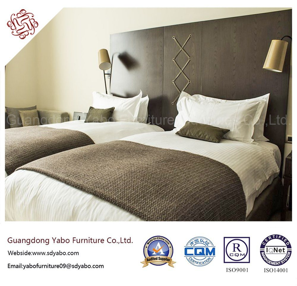 Chinese Foshan Commercial Chain Hotel Furniture for Standard Twin Bedroom Set (YB-G-8)