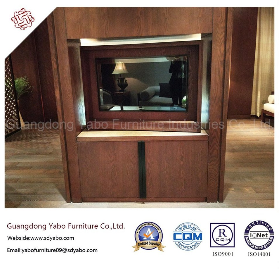 Commercial Hotel Furniture with Wooden Mounted TV Stand (YB-O-3)