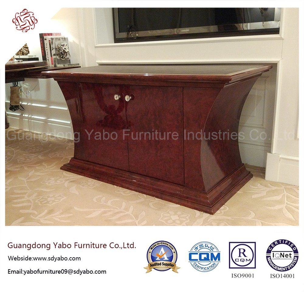 Salable Hotel Furniture with Living Room Veneered TV Stand (YB-O-7)