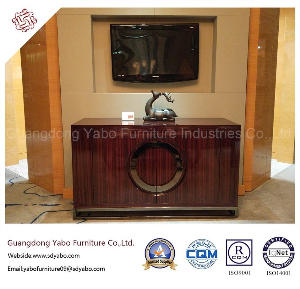 Simple Hotel Bedroom Ebony Veneer TV Cabinet (YB-O-26)