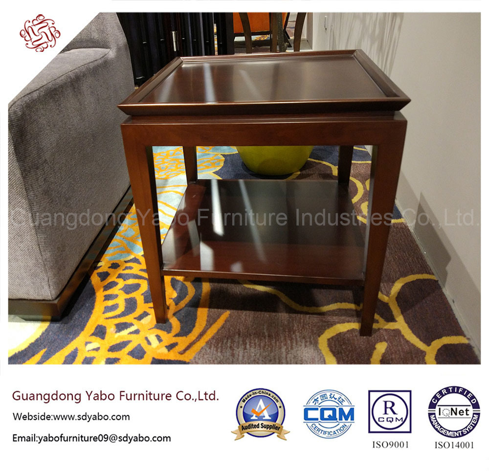 Modern Hotel Furniture with Wooden Side Table with Shelf (20-055-1)