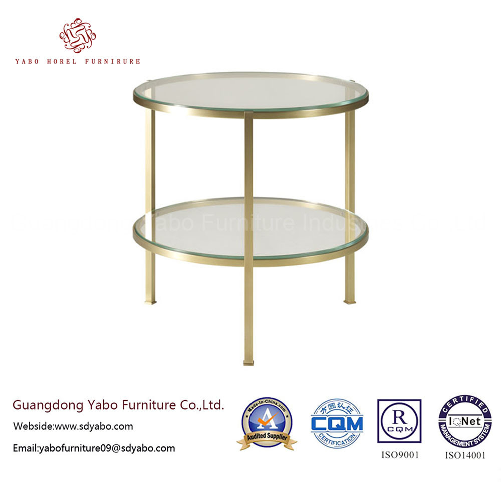 Generous Hotel Furniture for Living Room Glass Side Table (7881)