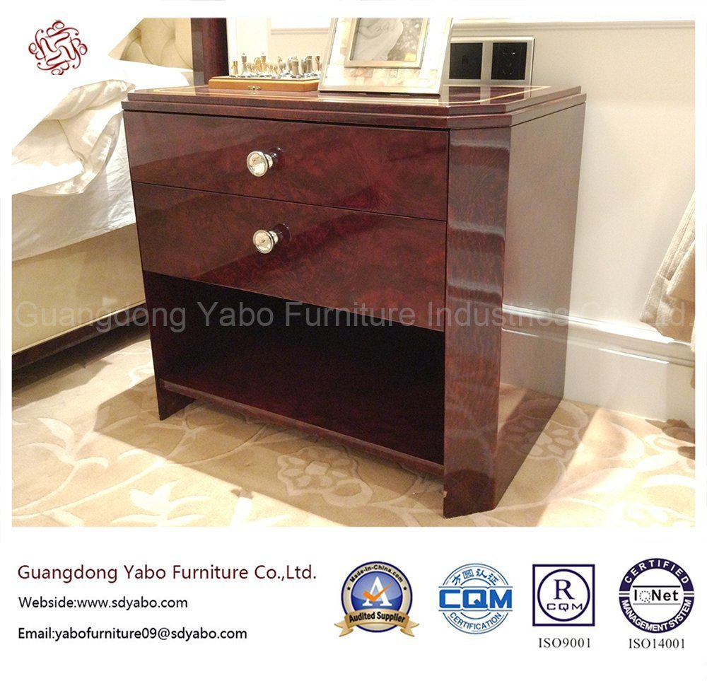 Custom-Made Hotel Bedroom Furniture with Wooden Nightstand (YB-E-16)