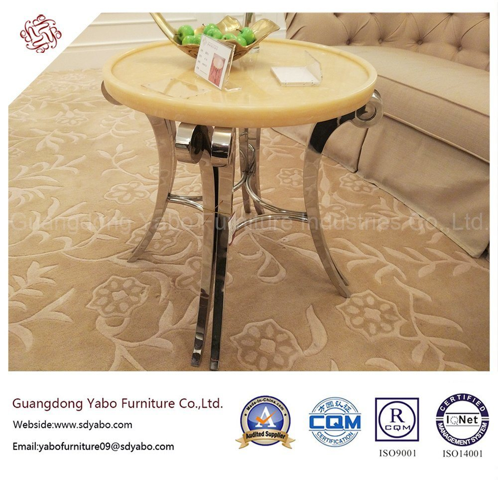 Simple Hotel Furniture with Living Room Marble Side Table (YB-E-9)