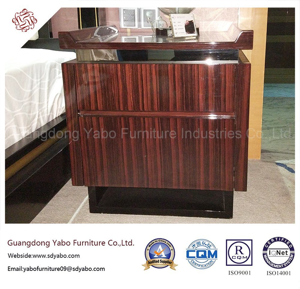 fashion Hotel Bedroom Furniture with Wooden Nightstand (YB-D-30)