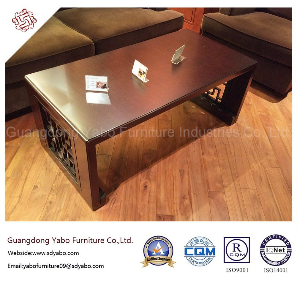 Chinese Hotel Furniture with Wooden Coffee Table (YB-E-21-2)