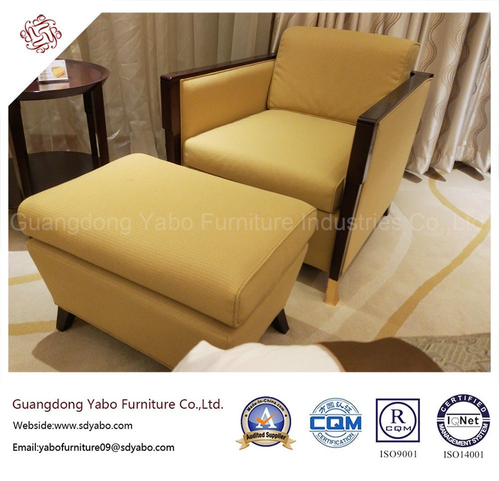 Graceful Hotel Furniture with Fabric Armchair and Ottoman (YB-O-4)