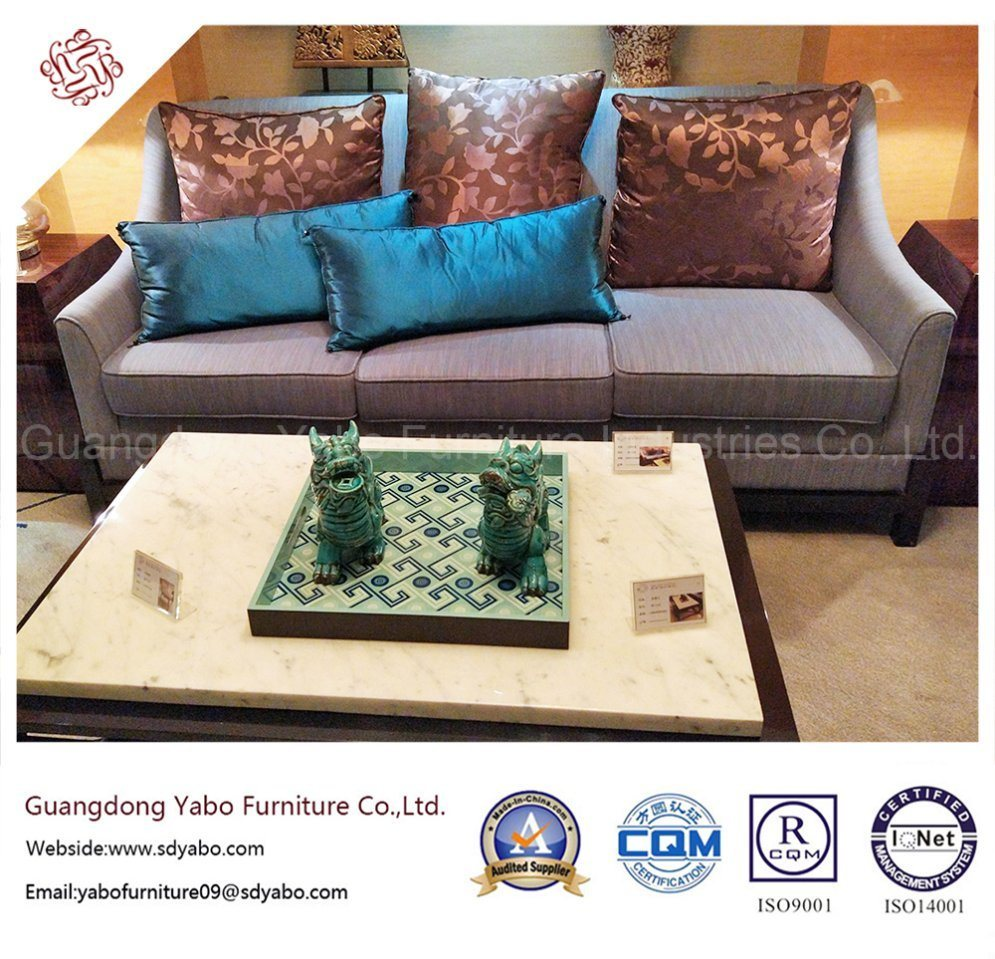 Hotel Furniture Fabric Three Seater Sofa