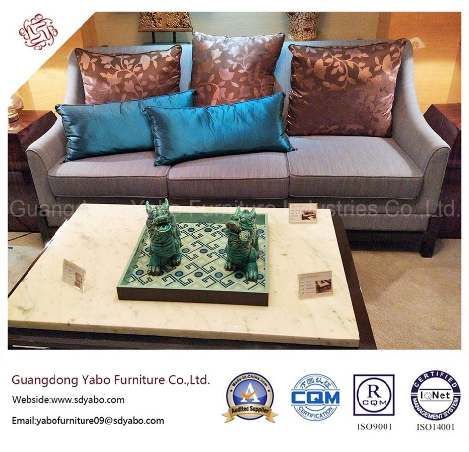 Hotel Furniture Fabric Three Seater Sofa