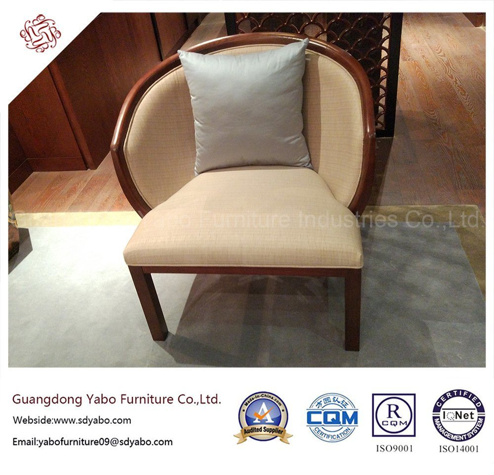 Salable Hotel Furniture with Round Fabric Armchair (YB-O-17)