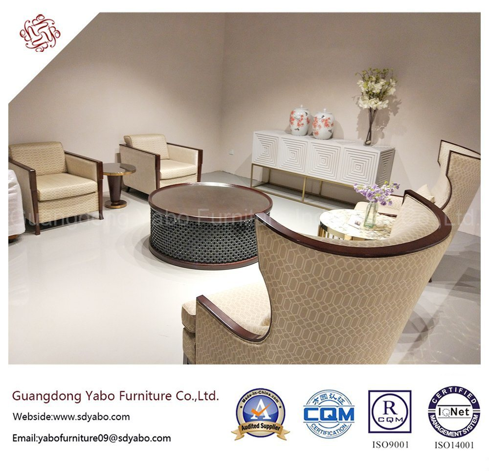Custom Made Hotel Furniture with Fabric Armchair Set (YB-O-29)