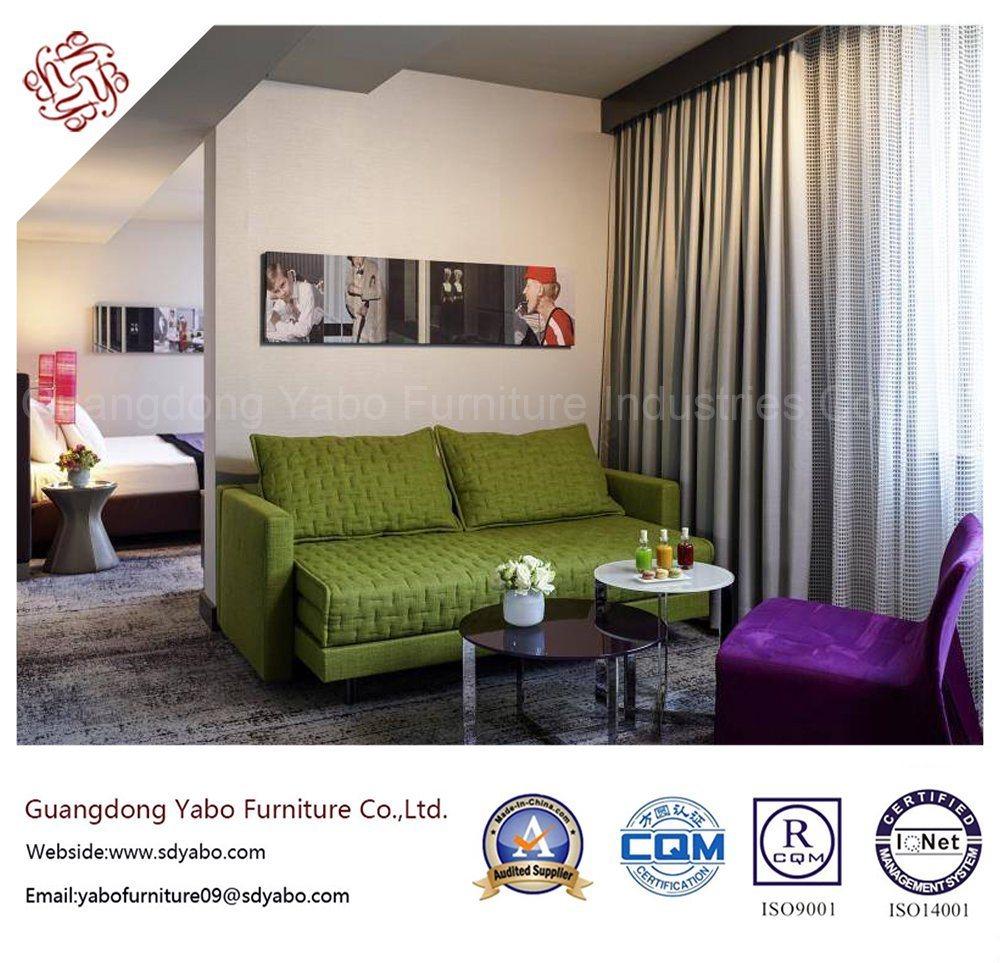 Original Hotel Furniture with Fabric Three Seat Sofa (YB-O-41)