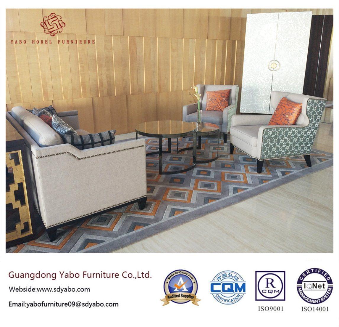 Wooden Hotel Furniture with Lobby Fabric Sofa Set (YB-O-43)