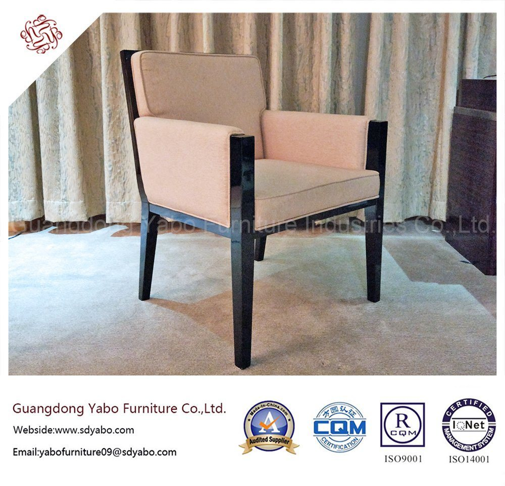 Wooden Hotel Furniture with Solid Wood Fabric Armchair (YB-O-22)