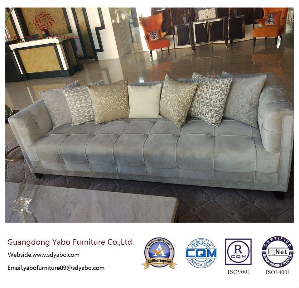 Luxurious Hotel Furniture with Lobby Fabric Three Sofa (YB-O-62)