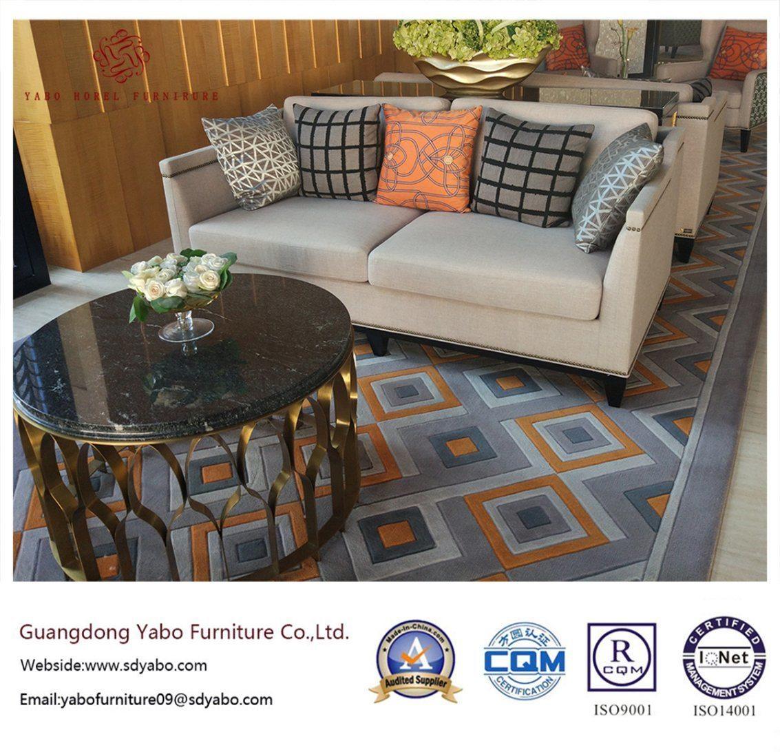 Upholsteryed Hotel Furniture with Fabric Three Sofa (YB-O-63)