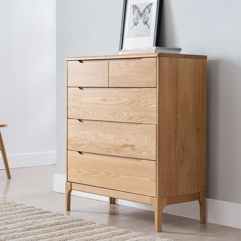 China Wholesale Customized Wooden Furniture Home Storage Cabinet Fair Price soild wood Chest of Drawers Design