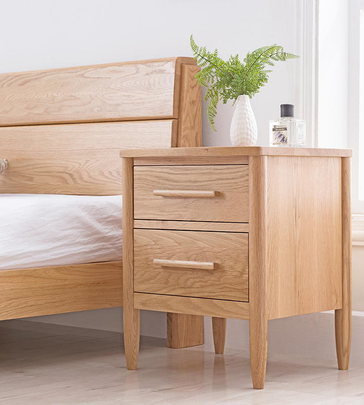2020 new design High Quality Bedroom furniture Storage Low Price Simple popular wooden side night stand with 2 drawer