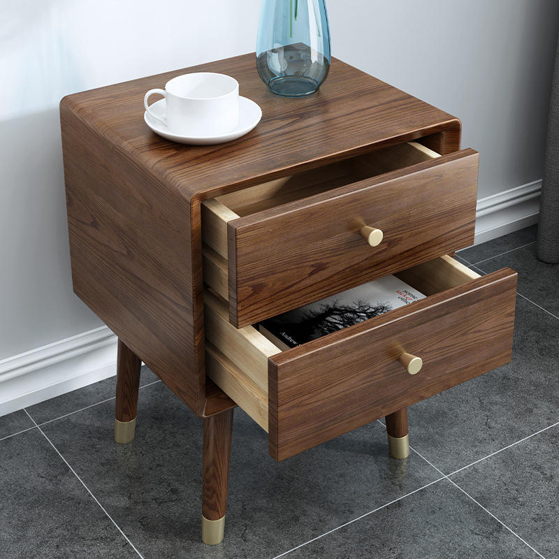 wood nightstand bedside cabinet with 2 drawers high end fashionabledurable low price bed set of 2specific use furniture