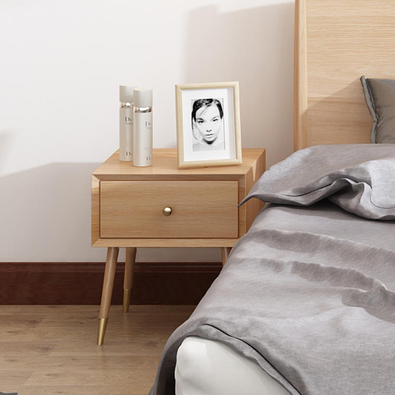 wooden nightstand bedside table customize bedroom side table modern best selling fashion with storage wholesale retail new list