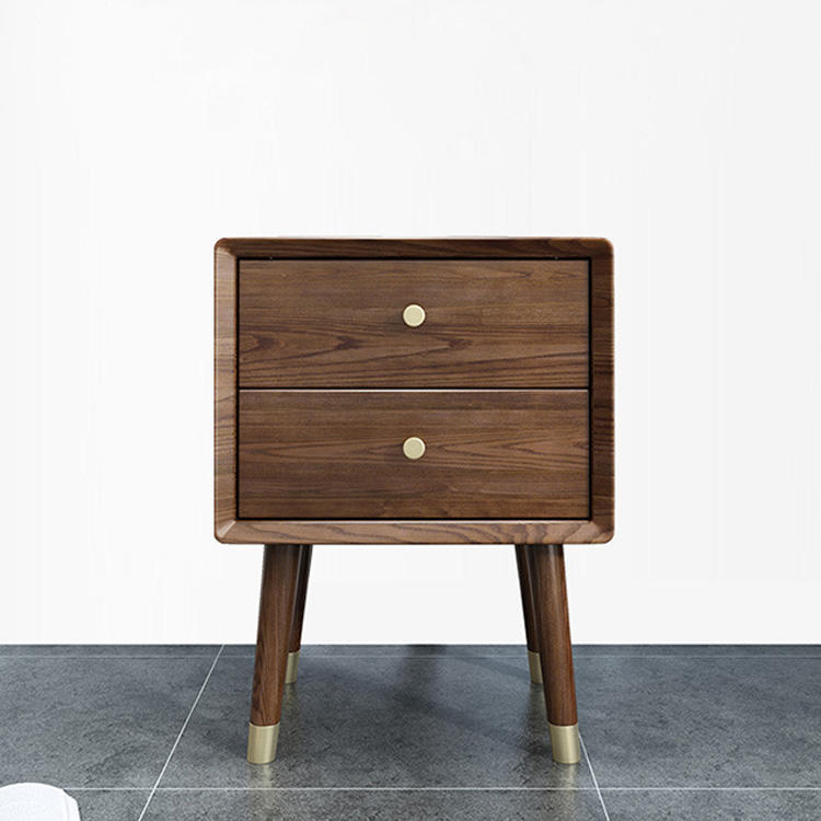 morden simple high quality soild wooden nightstands 2 drawer specific use furniture night stand with storage
