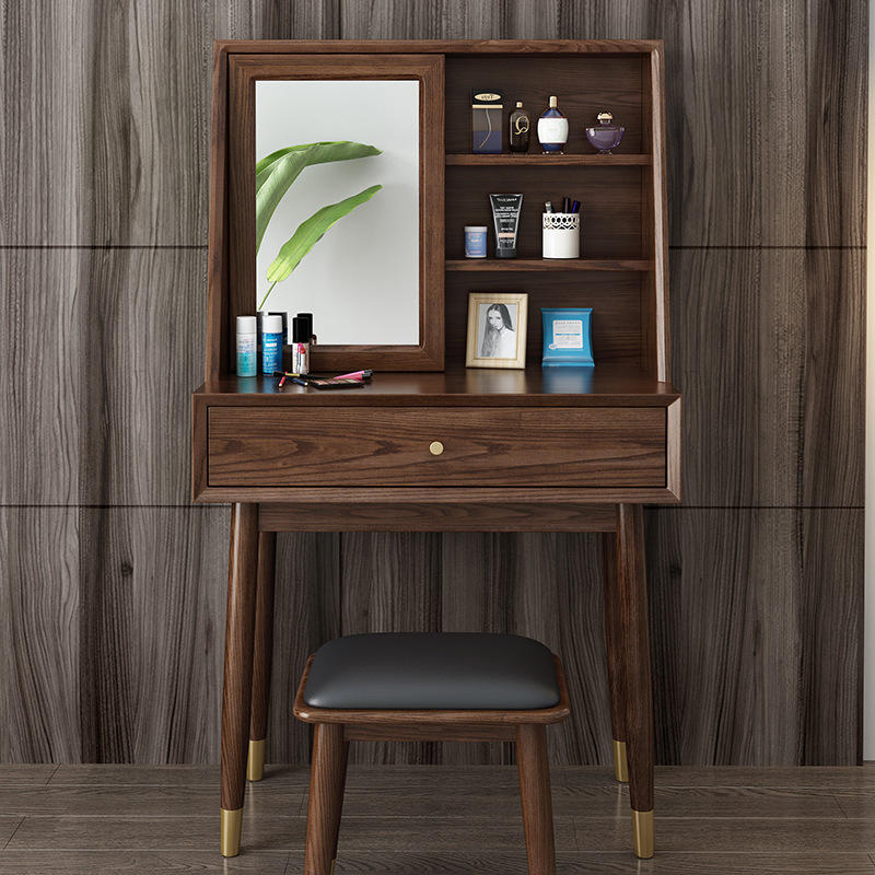 2020 latest design wooden dressing table dresser with mirror Nordic luxury European modern for bedroom china fashion craft