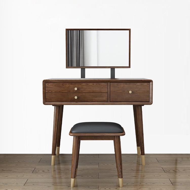 2020 latest design dressing table modern style solid wood mirror dresser girls women country style useful fancy 3 drawers