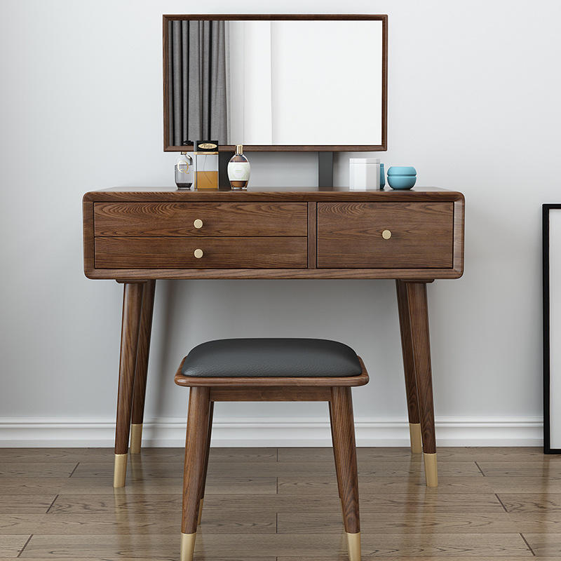 Customized new home dressing Table Set withl Mirror soild wood dressing table mirror low price for bedroom