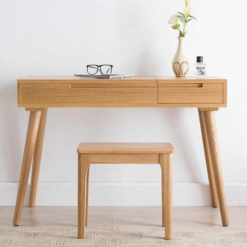 2020 New product Simple Desgin soild wood dressing table set Storage Dresser With Mirror Dressing Table
