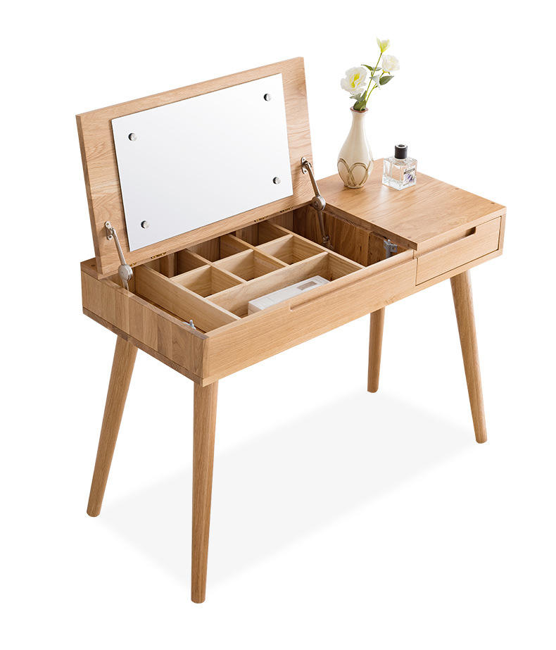 New Style Wooden Dressing Table Fashion Dresser Luxury Make up Table With Mirror for bedroom furniture Set