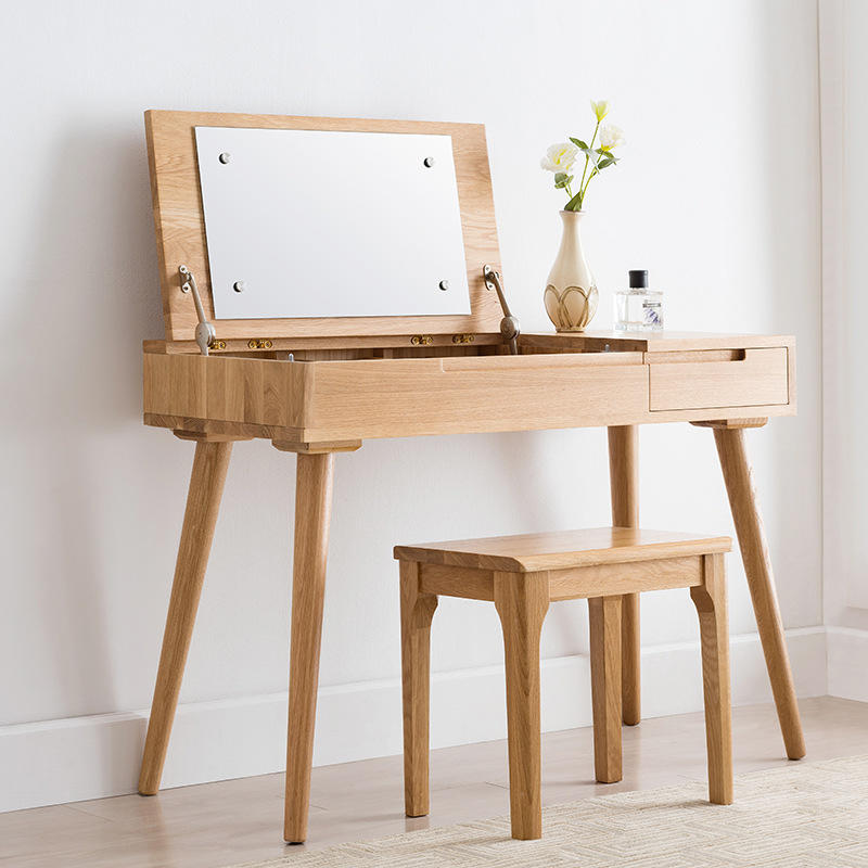 Drawers Wooden New Design Modern Model Designs Mirrored Vanity Simple Mirror Furniture Dressing Table