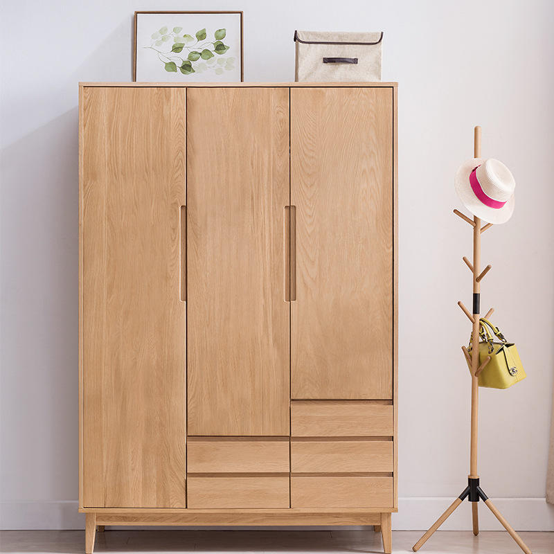 wooden closet wardrobe cabinet wood system for clothe cheapest hotel with drawers 2020 new design quality for home dressing room