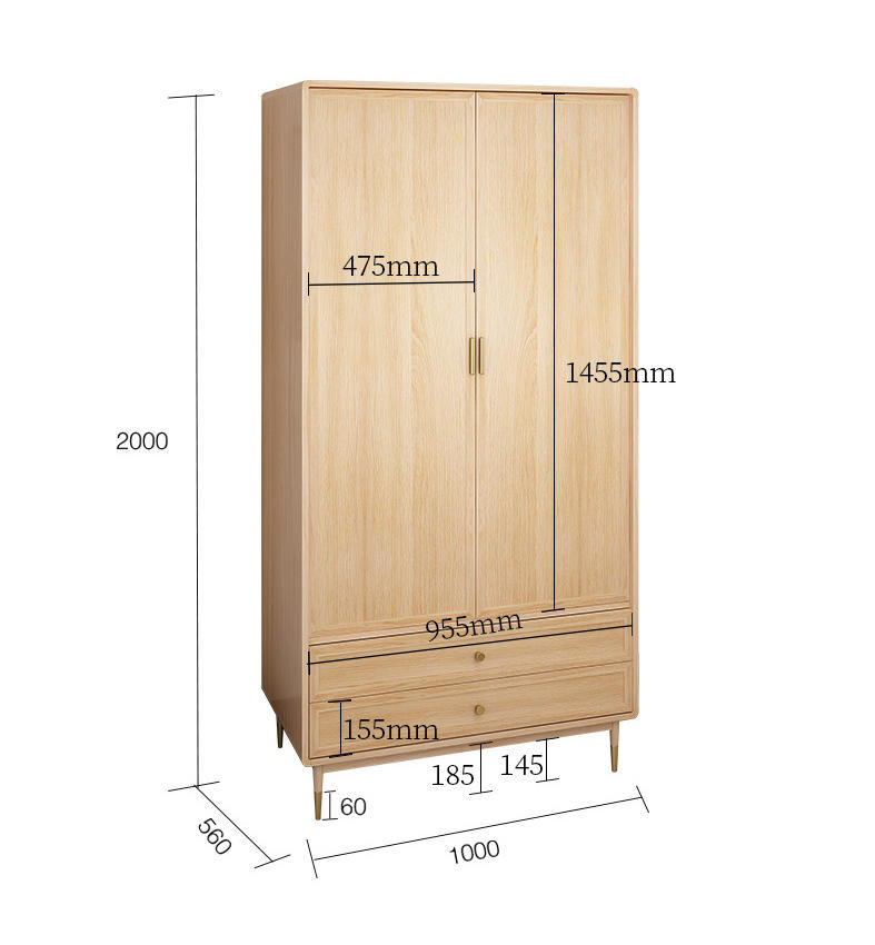 2020 new closet built in wardrobe wooden large red traditional brown sample cheap fair price student nordic hostel for home