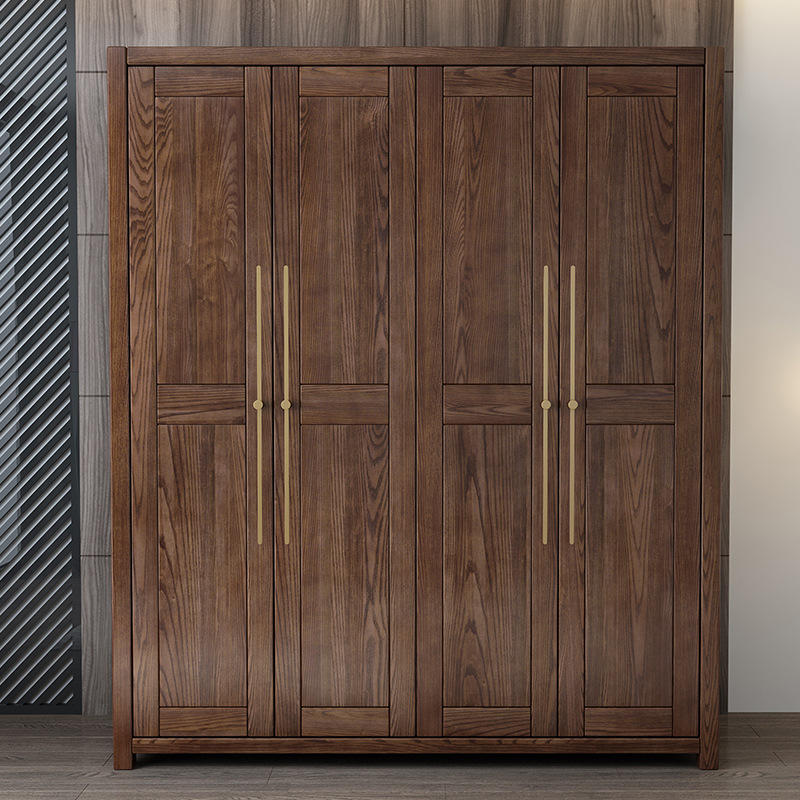 2020 China wooden wardrobe bedroom furniture new design latest simple hot sale 4 door below 2000 family clothing cabinets