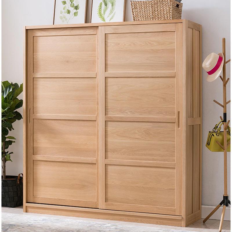 2020 new design cheap natural wood color big wardrobe furniture home bedroom furniture wooden wardrobes for the bedroom