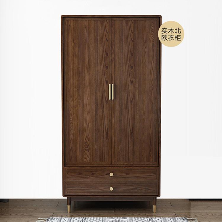 Walnut color new model small space decorative wardrobe closet latest wardrobe design bedroom wooden for clothes