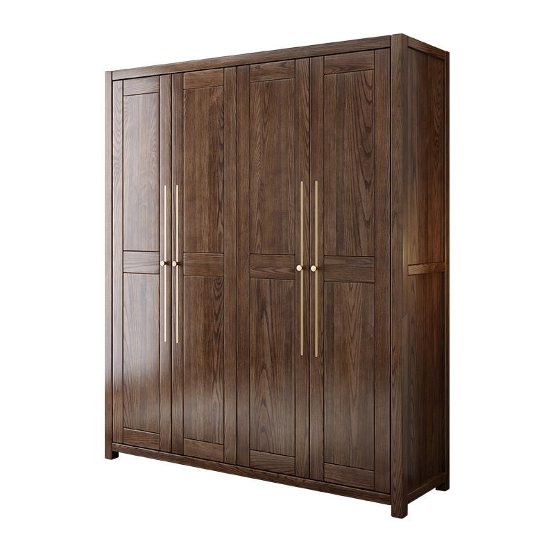 Simple Design Wooden Set Cabinets Designs Almirah 4door Modern 3 Door Cabinet Solid Wood Wardrobe