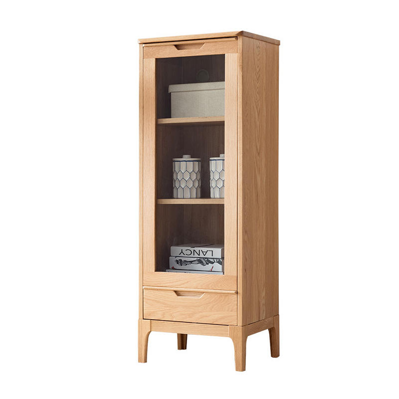 Modern custom supported cubic wooden wine rack cabinet with glass door wine cabinet for kitchen furniture