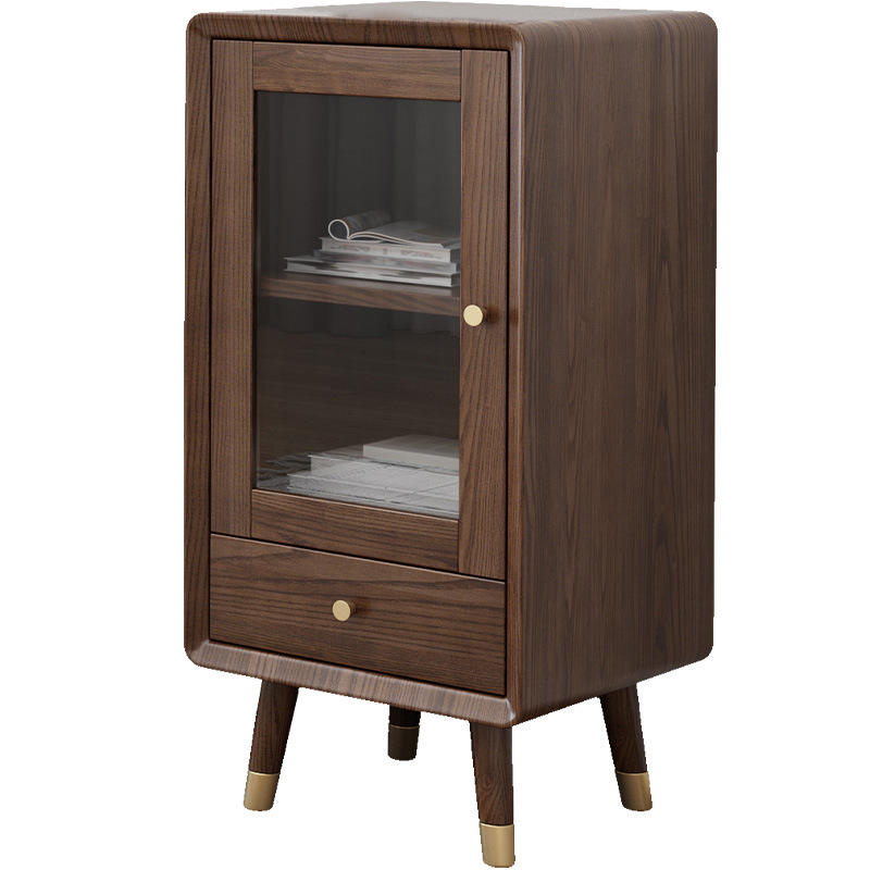wooden wine cabinet furniture elegant wine storage cabinet low solid wood wine display cabinet with copper foot